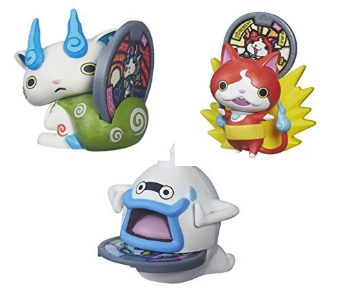 Spill Plush Toy Set (BEST Seller Yo-Kai Watch Medal Moments Wave 2 - SET OF 3 Action Figure - Jibanyan Whisper Komasan)