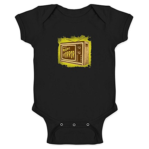 Pop Threads Watch More Horror Retro Halloween Costume Zombie Black 12M Infant Bodysuit