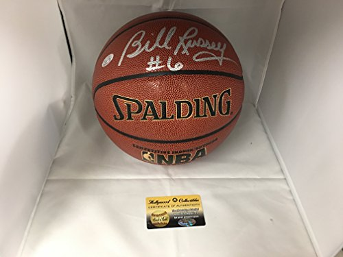 Bill Russell Boston Celtics Autographed Signed Basketball Russell COA & Hologram