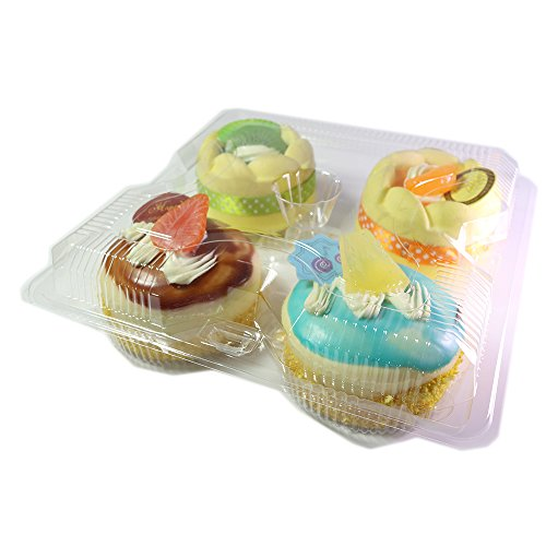 Set of 50 BPA-Free Clear Cupcake Containers