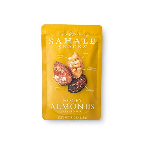 Sahale Snacks, Nut Snacks in a Resealable Pouch Variety of 3 Flavors ( Maple Pecans, Cherry Cocoa Coconut, Honey Almonds Glazed ) Pack of 6 by Sahale Snack (Image #2)