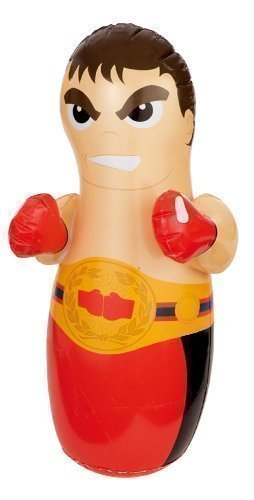 Intex 3D Inflatable Boxing Punch Bop Bag Kids Outdoor Indoor Game Toy Choice From 5 Pob Bags Designs : Wrestler , Boxer , Dolphin , Crocodile or Tiger (Boxer) by Intex