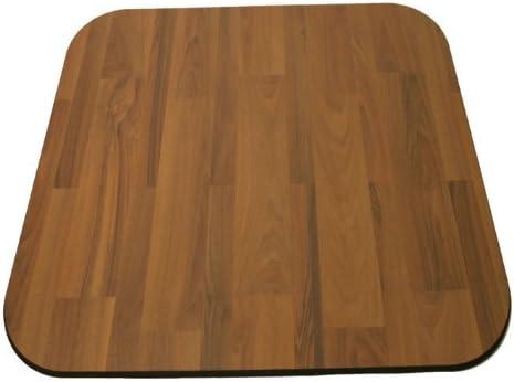 Laminate Chair Mat -Walnut-46×46 Rectangle