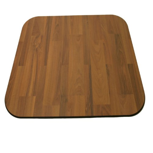 Laminate Chair Mat Walnut 46x46 Rectangle