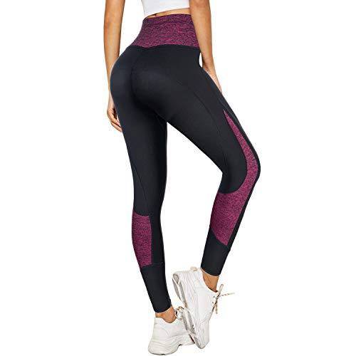 LANCS Women Sauna Sweat Leggings High Waist Slimming Pants Tummy Control Neoprene Compression Workout Tights with Pocket
