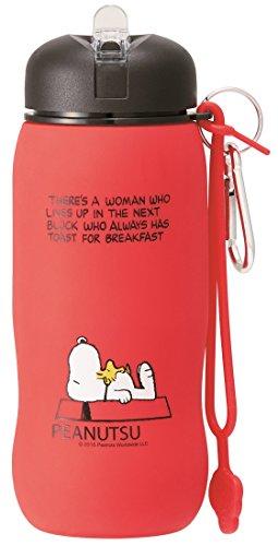 (Skater lightweight silicone bottle folding water bottle 500ml Snoopy SLBT1)