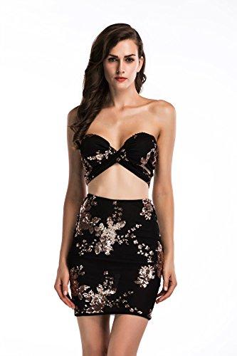 Meizizivestido Falda Vestido De De Noche De MeiZiZi Vestido Malla Casual black XBqRdwA