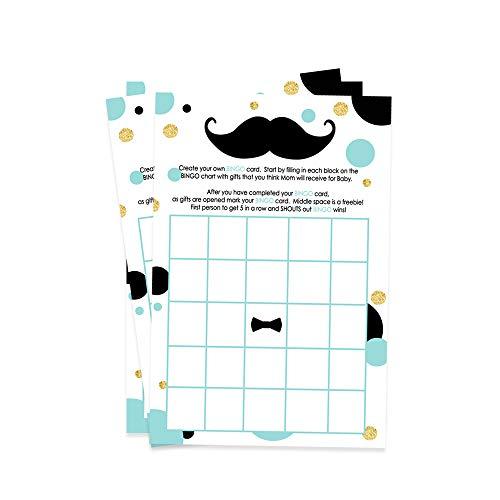 Mustache Baby Shower Bingo Game Cards 25 Pack