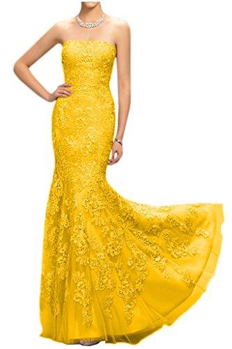 Victory Bridal - Robe - Crayon - Femme -  jaune - 50