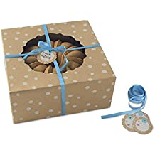 Nordic Ware Bake and Gift Kraft Paper Small Bundt Box, Multicolor
