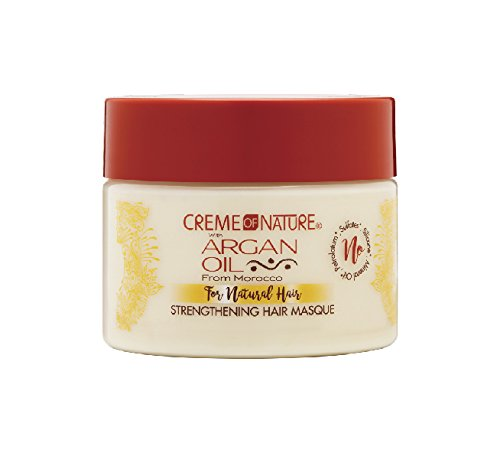 Creme Of Nature Argan Oil Strengthen Hair Masque 11.5 Ounce (340ml) Scalp Conditioning Creme