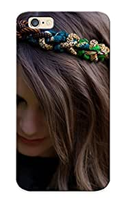 18defad4009 Crazylove Awesome Case Cover Compatible With Iphone 6 - Situation Girl Brunee Face Eyes Makeup Eyelashes Urkashenie Rim Rope Braid Nature Mood