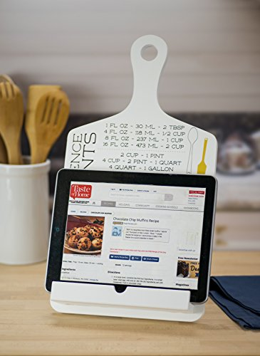 Boston Warehouse Tablet Holder and Cookbook Stand Cooking Measurements, 17x8.9
