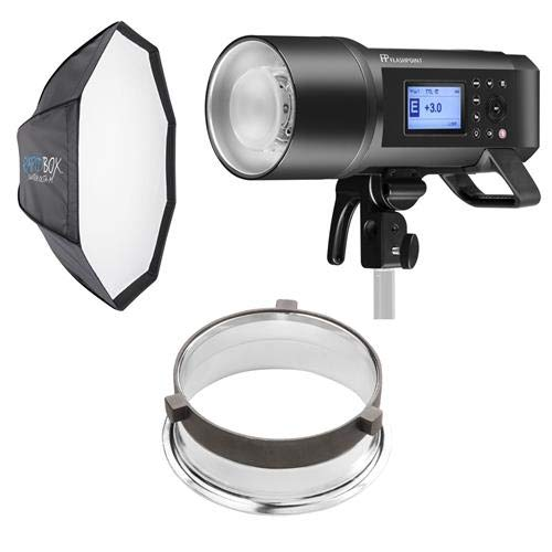 Westcott Monolight Bundle Includes, Flashpoint XPLOR 600PRO TTL R2 Battery-Powered Monolight Bowens Mt, Godox AD600 Pro d Box Switch Octa-S 26'' Switch Insert (Bowens),