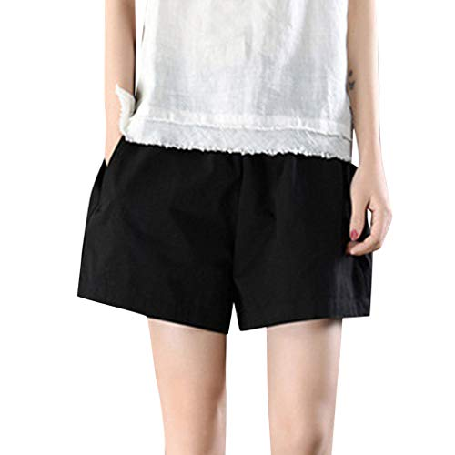 Womens Soild Shorts, Summer Fashion Loose Wild Short Pant Bermuda Casual Comfy Shorts with Pockets ❤️Sumeimiya - Bermuda Seersucker