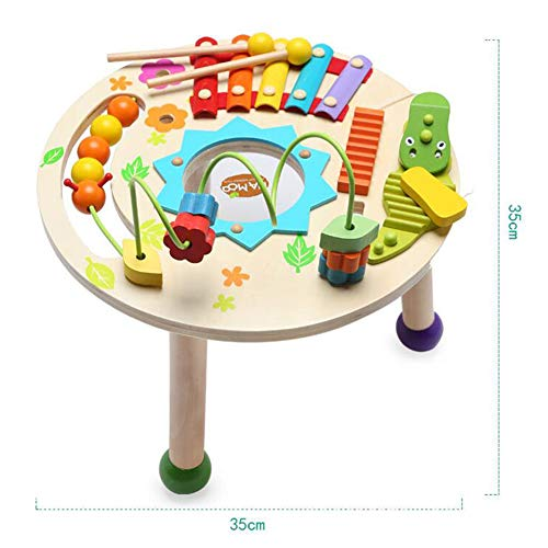MG.QING Knock Piano Music Table Baby Multi-Function Game Table Baby Puzzle Early Education Wooden by MG.QING (Image #4)