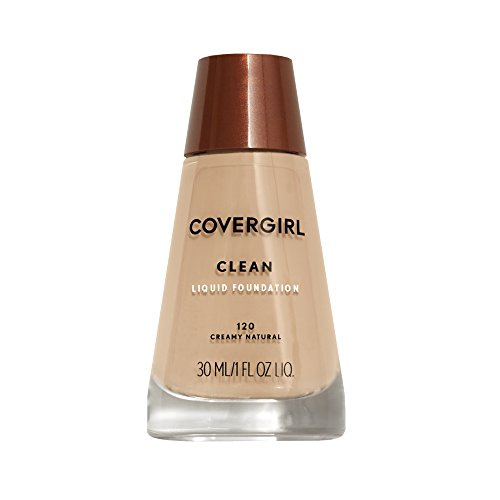 COVERGIRL Clean Makeup Foundation Creamy Natural 120, 1 oz (packaging may vary)