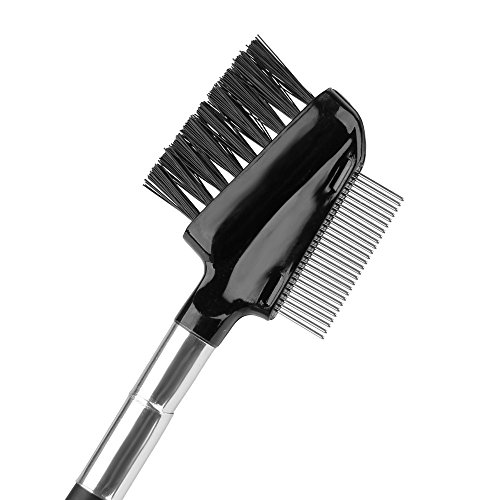 Beauty7 Professionl Dual Comb Brow Brush and Eyelash Comb Groomer ()