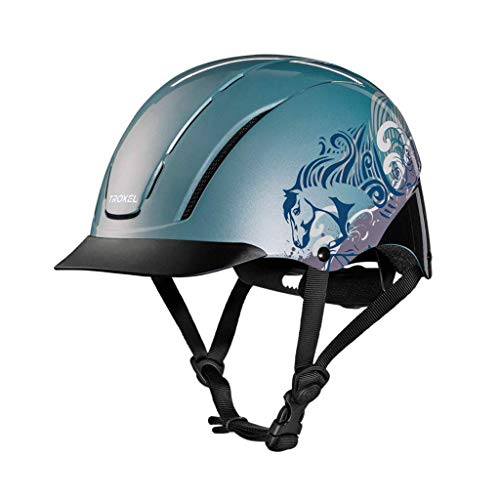 Troxel Spirit Graphic Dreamscape Helmet, Mint, Small