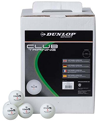 Dunlop 1 Star School/club Ping Pong Training Table Tennis Ball White Pack Of 144 by Dunlop