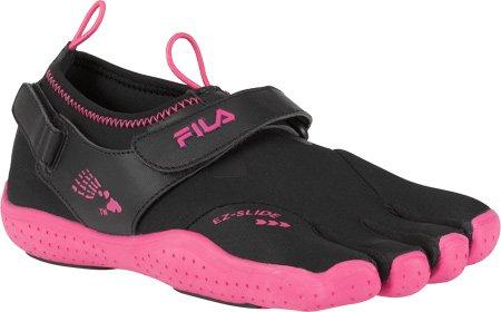 Fila Skele-Toes Ez Slide Drainage Black, Hot Pink