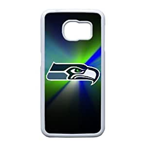 Samsung Galaxy S6 Edge Cell Phone Case White Seattle Seahawks NFL KQ9985828
