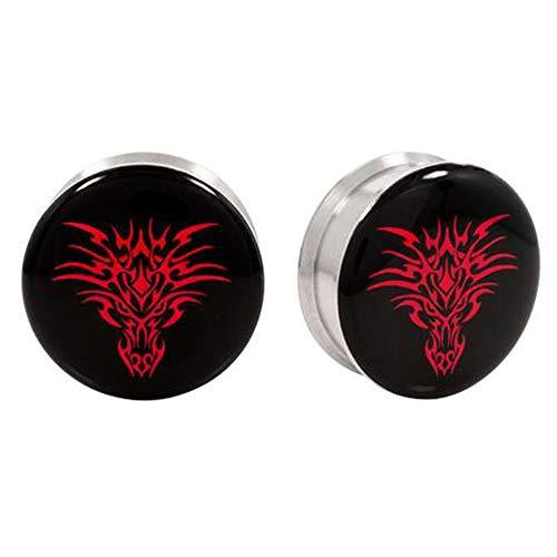 Stainless Steel Logo Stash Ear Plugs - Dragon | 4g | 05mm
