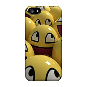 RachelMHudson Case Cover Protector Specially Made For Iphone 5/5s Smiley Face Ball