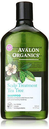 Avalon Organics Scalp Treatment Tea Tree Shampoo, 11 Ounce