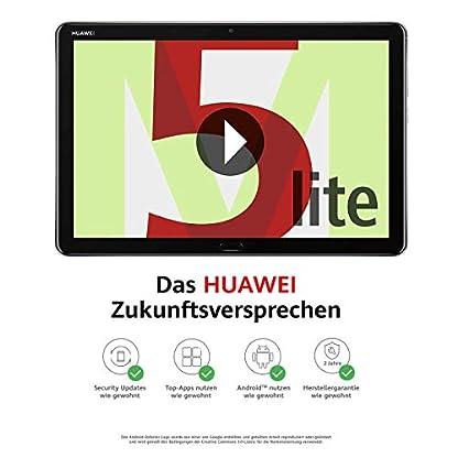 Huawei MediaPad M5 lite WiFi Tablet-PC 25,6 cm (10,1 Zoll), Full HD, Kirin 659, 3 GB RAM, 32 GB interner Speicher, Android 8.0, EMUI 8.0, grau 1