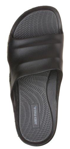 J. Fiallo Mens New Slide Beach Sandal Slippers in 3 Classy Colors (New Slipper Sandal Flip Flop)