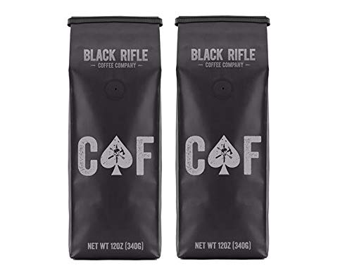 Black Rifle Coffee Company, CAF Blend, Medium Roast Ground (Pack of 2)