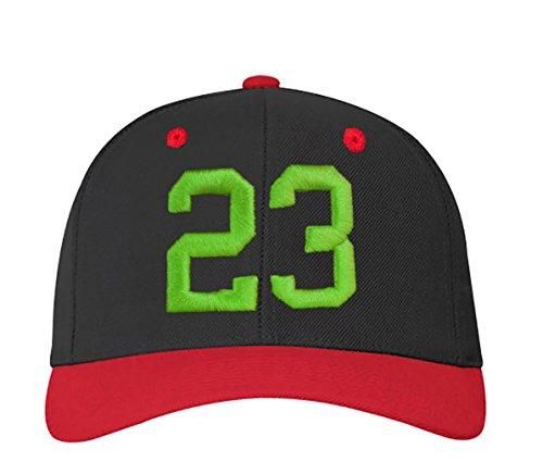 y en 23 con 4sold letras blanco Z 3d nbsp;Números A rojo 23 negro gorra color green a carta ABC tPYwwqfE