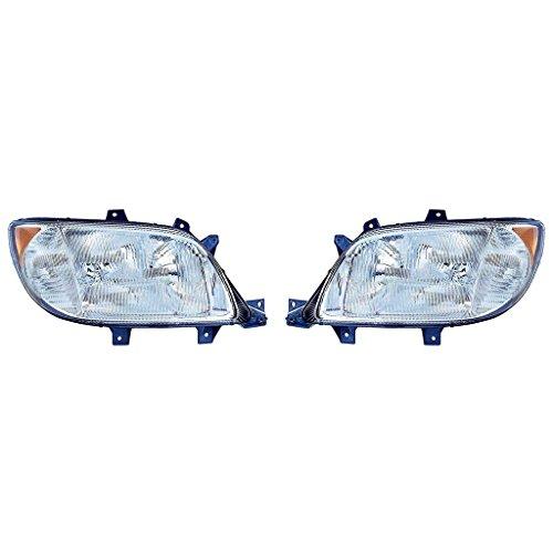 Fits FreightLiner Sprinter 2003-2006 Headlight Assembly w/Foglight Pair Driver and Passenger Side FL2502100, FL2503100