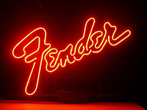 - UrbyTM Fender Real Glass Neon Light Sign Home Beer Bar Pub Recreation Room Game Room Windows Garage Wall Sign 18''x14'' A14-09