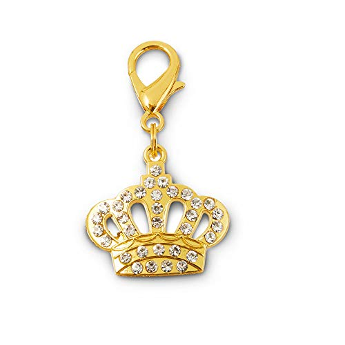 Bond & Co. Jeweled Crown Dog Collar Charm, Large