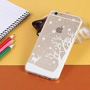 SHOUJIKE Christmas Tree Transparent TPU Pattern Soft Case for iPhone 6