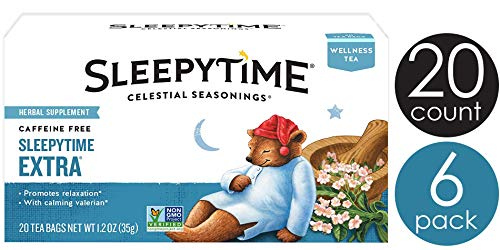 Celestial Seasonings Wellness Tea, Sleepytime Extra, 20 Count Box (Pack of 6) (The Best Sleepy Time Tea)