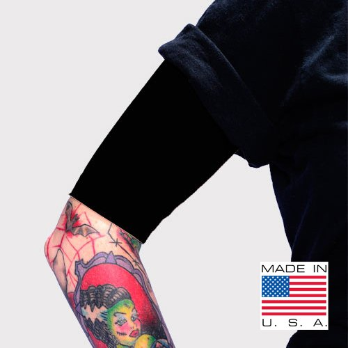 Tat2X Ink Armor Premium Half Arm Tattoo Cover Up Sleeve - No Slip Gripper - U.S. Made - Black - XSS (Single Half arm Sleeve) (Best Upper Arm Tattoos)