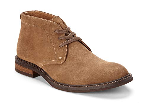 Vionic Men's Bowery Chase Chukka Boot - Mens Lace up Boot with Concealed Orthotic Arch Support Tan 10 M US