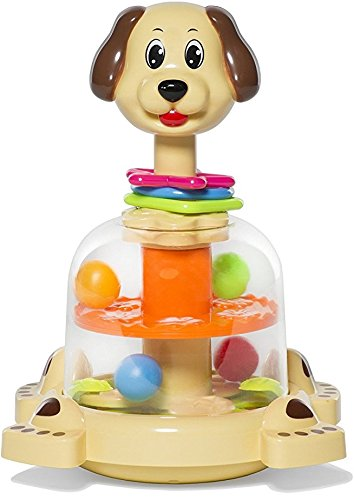 MooToys 'Doggy spinner' Push and spin Dog, Help Develops your baby's Fine motor skills - Push Your