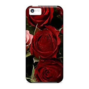 Tpu Fashionable Design Passion Roses Rugged Case Cover For Iphone 5c New