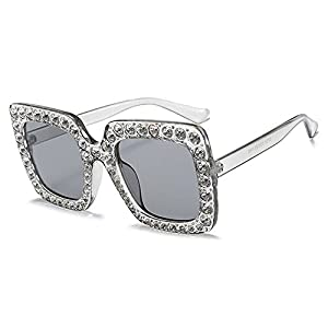 Square Sunglasses Luxury rhinestone Sun Glasses Shades MA282,a thing,50Centimeters