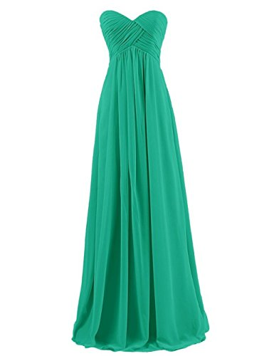 Prom Annie's Chiffon Bridal Dresses Bridesmaid Sweetheart Green Gowns Women's Long Simple BSBwxqr68