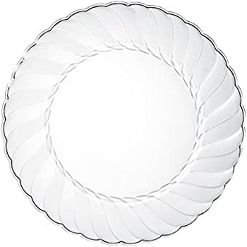 Premium Clear Plastic Plates By Alpha \u0026 Sigma - 100pcs 9\  Food Grade Clear Plastic  sc 1 st  Amazon.com & Amazon.com: Premium Clear Plastic Plates By Alpha \u0026 Sigma - 100pcs 9 ...