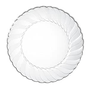 Premium Clear Plastic Plates By Alpha u0026 Sigma - 100pcs 9u0026quot; Food Grade Clear Plastic  sc 1 st  Amazon.com & Amazon.com: Premium Clear Plastic Plates By Alpha u0026 Sigma - 100pcs 9 ...
