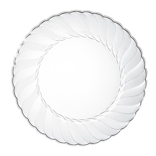 Premium Clear Plastic Plates By Alpha & Sigma - 100pcs 9 Food Grade Clear Plastic Plates - Washable & Reusable - Perfect For Birthdays, Parties, Celebrations, Picnics, Buffets, Catering & More