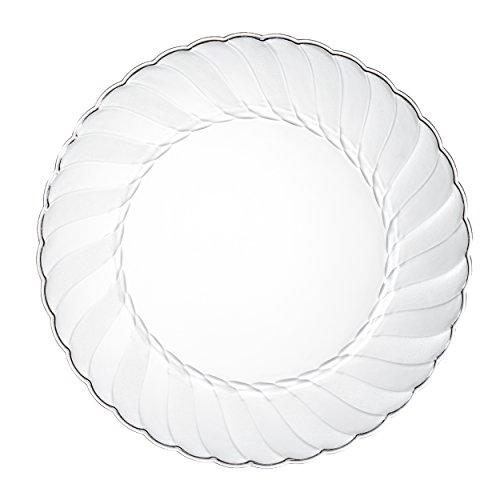 Premium Clear Plastic Plates By Alpha & Sigma - 100pcs 9
