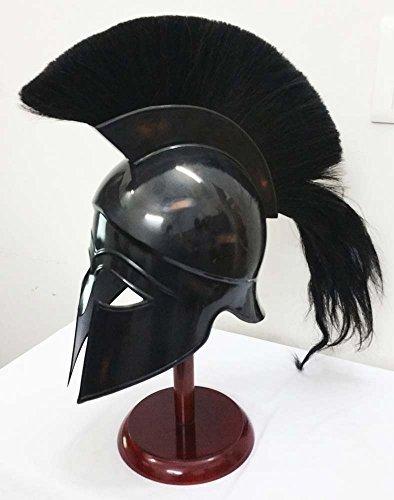 ギリシャコリント古代中世Armor Knight SpartanヘルメットレプリカヘルメットwithブラックPlume by Shiv Shakti Enterprises   B01MYMY1O9