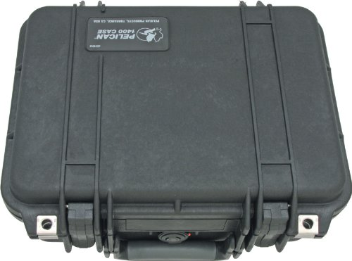 Pelican 1400 Case With Foam (Black) (Foam For Cases)